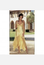Shirley of Hollywood Long Yellow Gown
