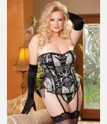 Shirley of Hollywood Skull Print Corset