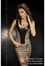 Passion Martha Faux Leather Top and Mini Skirt
