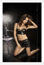 Passion Rusty Black Top and Skirt Set