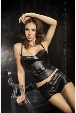 Passion Verona Faux Leather Shorts Set