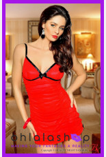 Beauty Night Red Temptation Babydoll Set