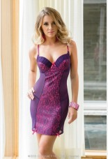Coquette Underwire Mesh And Lace Over Satin Chemise