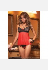 Coquette Mesh and Lace Babydoll