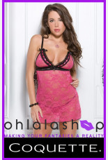 Coquette Stretch Lace Keyhole Chemise