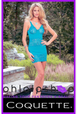 Coquette Teal Scalloped Chemise