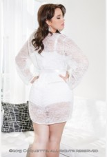 Coquette Lace Patterned Robe