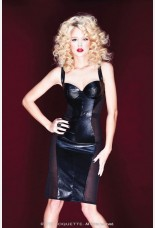 Coquette Darque Pvc Look Dress