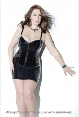 Coquette Darque Wet Look Fully Boned Corset