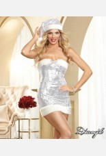 Dreamgirl Sexy Silver Sequin Dress