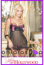 Shirley of Hollywood Charmeuse Heart Cup Babydoll