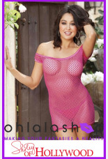 Shirley of Hollywood H.O.T. Stretch Fishnet Chemise