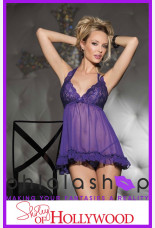 Shirley of Hollywood Halter Chiffon Babydoll