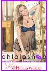 Shirley of Hollywood Mesh And Patterned Babydoll