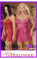 Shirley of Hollywood Satin and Lace Chemise Set