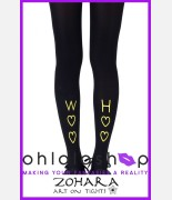 Zohara Party in the Back/Front Black Tights